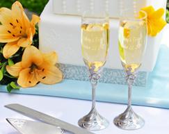 Calici Matrimonio & Set Torta Nuziale