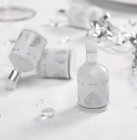 Spara-Coriandoli Vintage Bianco/Argento (Set di 20)