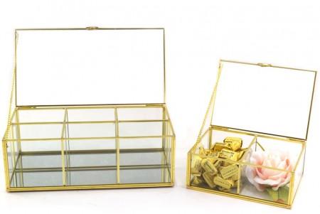 Cofanetto vetro e ottone