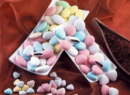 Confetti Buratti al cioccolato fondente (Colori pastello)