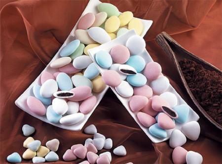 Confetti Buratti al cioccolato (Bianchi o Pastello)