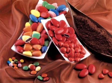 Confetti Buratti al cioccolato fondente (Colori vivaci)