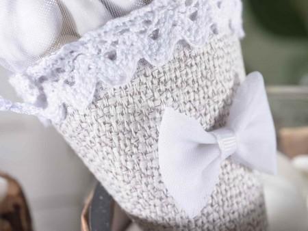 Coni porta confetti per matrimoni in tessuto e organza
