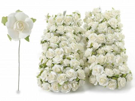 Rosellina chiudipacco bianca Ø 3 cm