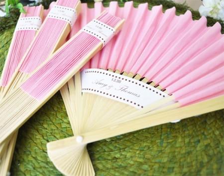 Ventagli di carta Rosa Chiaro