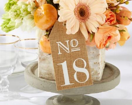 Numeri per tavoli in iuta (13-18)