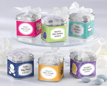 Scatoline in latta Personalizzate per Nascita e Battesimo