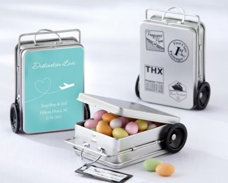 """Scatoline portaconfetti personalizzabili in latta """"Km di ricordi"""""""