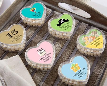 Portaconfetti personalizzato a Cuore per Compleanni e Feste
