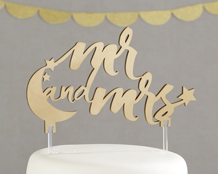 """Cake Topper """"Mr. and Mrs."""" Sotto le stelle"""
