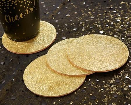 Sottobicchiere Oro Glitter