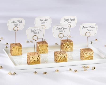 Segnaposto glitterato in oro (set da 6)