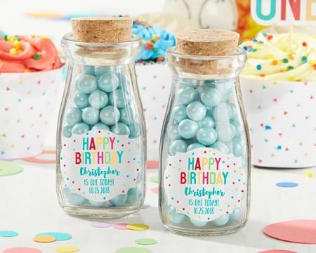 Mini Brocche latte personalizzate – 1° compleanno (set da 12)