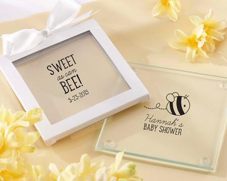 """Sottobicchieri in vetro personalizzati """"Bee"""" - Collezione compleanni"""