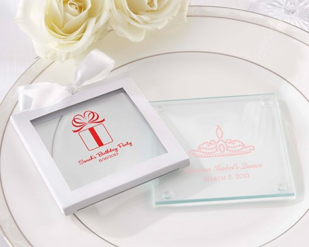 Sottobicchieri in vetro personalizzati – Compleanno