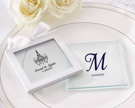 Sottobicchieri in vetro personalizzati – Matrimonio