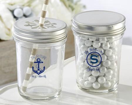 Barattolo trasparente personalizzato – linea nautica (Addio al nubilato)