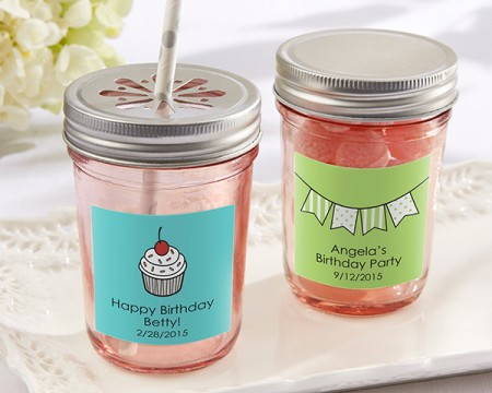 Barattolo rosa personalizzato (Compleanno)