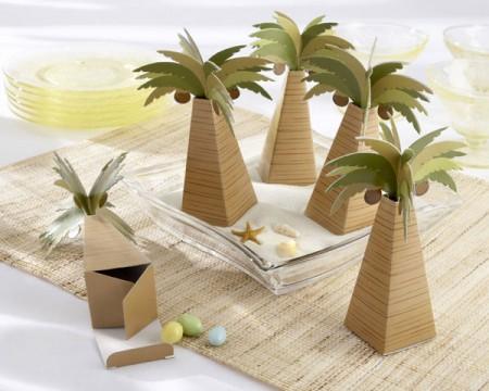 Scatole portaconfetti a forma di palma