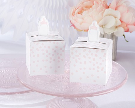 Portaconfetti biberon rosa (Set da 24)
