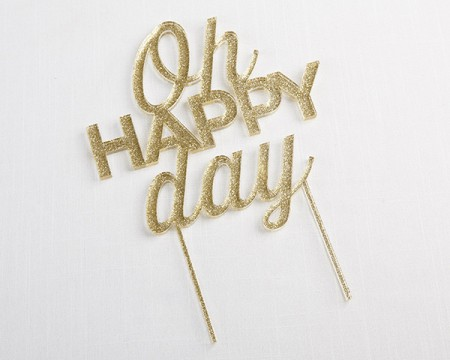 """Cake Topper """"Oh Happy Day"""""""