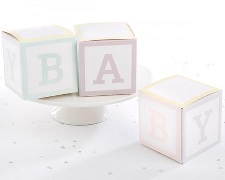"""""""Portaconfetti Cubi """"""""Baby"""""""" (Set di 24) """""""