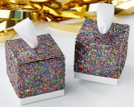 Scatola Portaconfetti Multicolor Glitterato (Set di 24)
