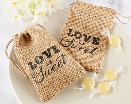 "Sacchetti in tela ""Love is Sweet!"""
