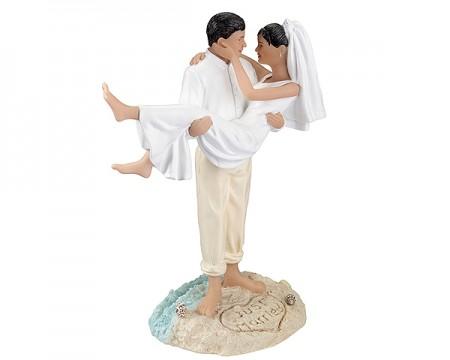 Cake Topper - Sposi in spiaggia (Hispanic)