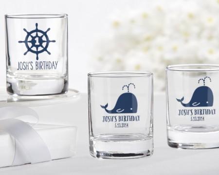 Bicchierini da liquore/Portacandeline personalizzati – Tema Nautico (Compleanno)