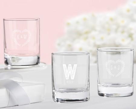 Bicchierini da liquore/Portacandeline personalizzati – Linea rustica (Matrimonio)