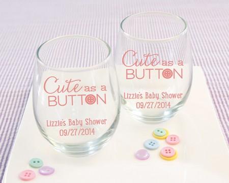 """Bicchieri personalizzati – Linea """"Cutte as a Button"""" (Baby)"""