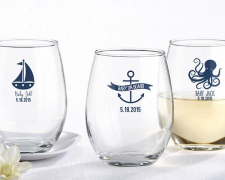 Bicchieri personalizzati – Tema Nautico (Nascite e Battesimi)