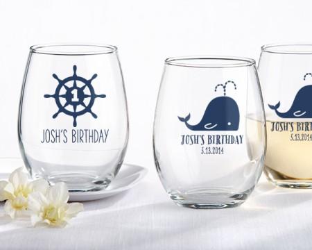 Bicchieri personalizzati – Tema Nautico (Compleanno)
