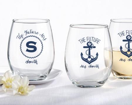 Bicchieri personalizzati – Tema Nautico (Addio al Nubilato)
