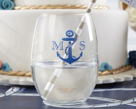 Bicchieri personalizzati – Tema Nautico (Matrimonio)