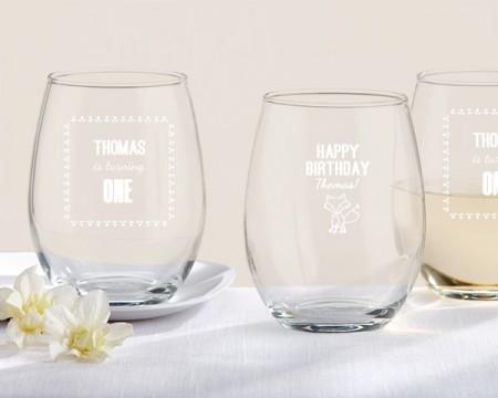 Bicchieri Personalizzati – Linea Rustica (Compleanno)