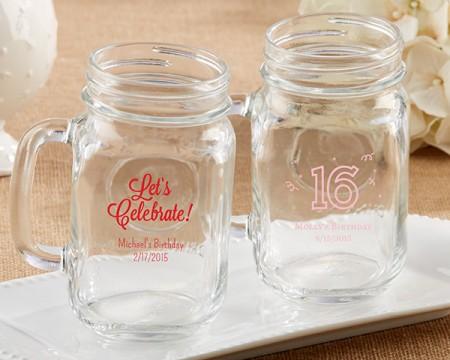 Tazza barattolo stile vintage personalizzabile – Compleanno