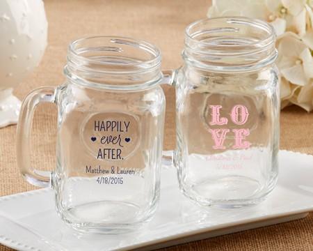 Tazza barattolo stile vintage personalizzabile – Matrimonio