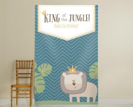 """Pannello Photo Booth personalizzato - Linea """"Il re della giungla"""""""