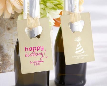 Apribottiglie Personalizzabile Dorato - Tema Compleanno