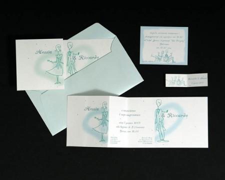 """Biglietti confetti """"C'est la vie"""""""