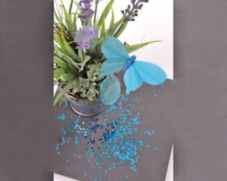 Farfalle semplici su Gambo (Colori Assortiti)