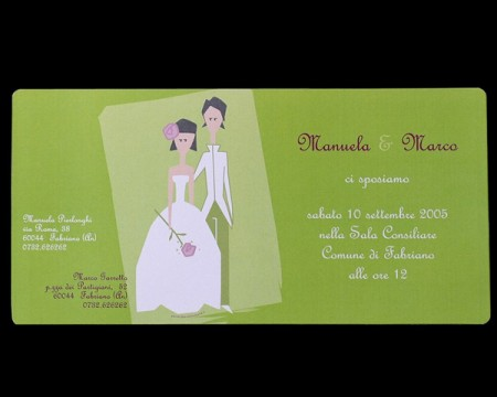 "Partecipazione ""Just married"""