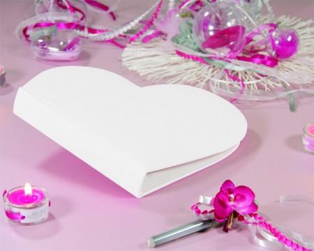 Guestbook a forma di cuore (Bianco)