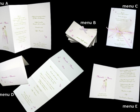 "Menu ""Just married"""