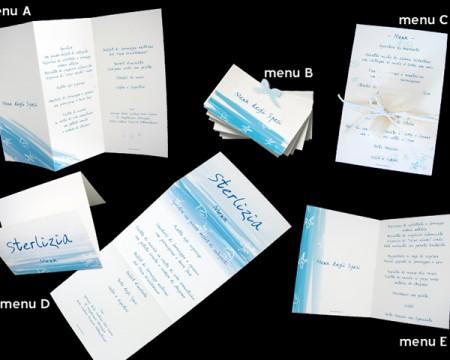 """menu""""Profumo di mare"""""""