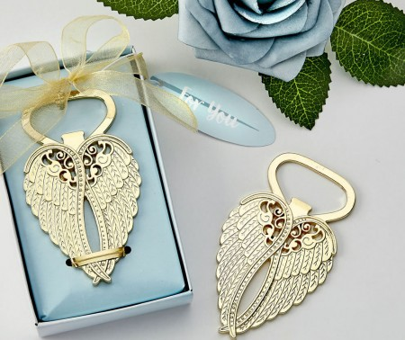 "Apribottiglie ""Angel Wing"" in oro"