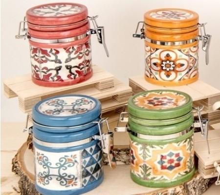 Barattolini in porcellana stile Vietri