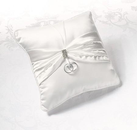 Cuscino Portafedi Rhinestone (Crema)